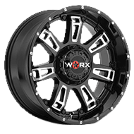 WORX Wheels Beast II 808 <br/> Gloss Black Milled