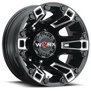WORX Wheels Dually Beast 803 Rear <br/> Gloss Black Milled