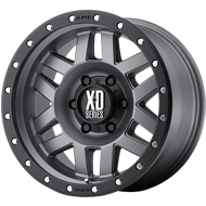 XD Wheels <br />XD128 Matte Gray w/ Black Ring