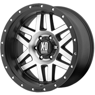 XD Wheels <br />XD128 Satin Black Machined Face