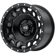 KMC XD129 Holeshot Satin Black Wheels