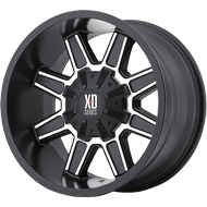 XD Wheels <br />XD823 Satin Black w/ Machined Face