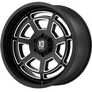 KMC XD824 Bones Satin Black Milled Wheels