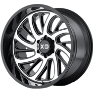 KMC XD826 Surge Gloss Black w/ Machined Face Wheels