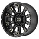 XD WHEELS<br /> XD829 Satin Black Mach W/ Dark Tint Clear Coat