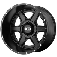 KMC XD832 Fusion Satin Black Wheels
