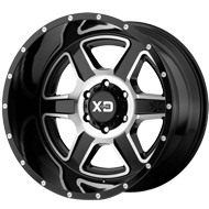 KMC XD832 Fusion Gloss Black Machined Wheels