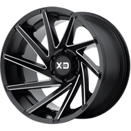 KMC XD834 Cyclone Satin Black Milled Wheels