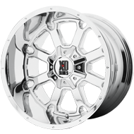 KMC XD202 Buck 25 Chrome Wheels