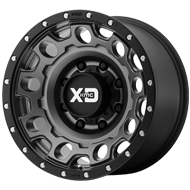KMC XD129 Holeshot Matte Gray w/ Black Ring Wheels