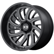 KMC XD826 Surge Satin Black Milled Wheels