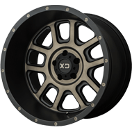 KMC XD828 Delta Matte Black w/ Dark Tint Clear Wheels