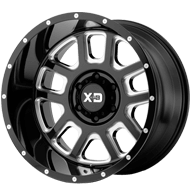 KMC XD828 Delta Gloss Black Milled Wheels