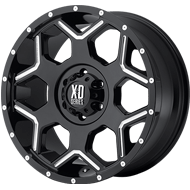 XD812 Crux Wheels <br> Gloss Black Milled