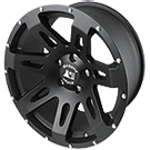 Rugged Ridge<br> XHD Jeep Wheels Satin Black