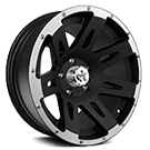 Rugged Ridge<br> XHD Jeep Wheels Black Machined