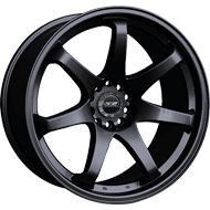 XXR Wheels </br> 522 Series Flat Black
