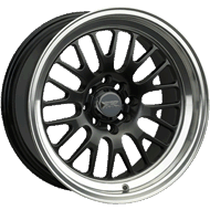 XXR Wheels </br> 531 Series Black Machined Lip