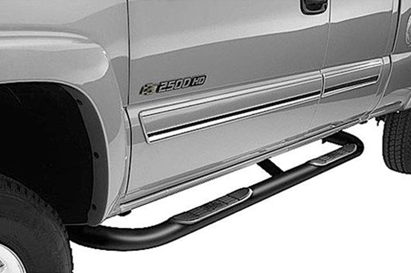 LUND 23075332 Black Steel 3 Round Bent Nerf Bars for 2004-2012 Chevrolet Colorado//GMC Canyon Crew Cab