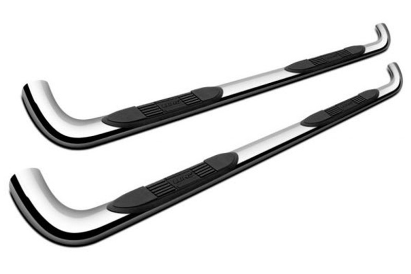 LUND 22671091 Polished Stainless Steel 3 Round Bent Nerf Bars for 2013-2016 Ford Escape