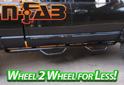 N-FAB Black Wheel to Wheel Nerf Steps