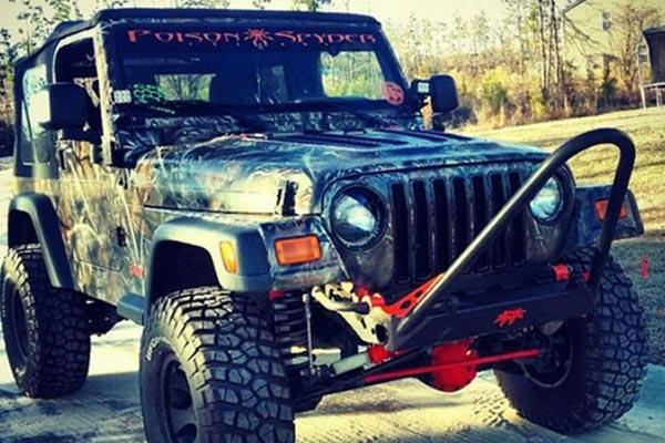 Poison Spyder Hard Core Front Bumper Trail Stinger For 97-06 Jeep Wrangler TJ LJ