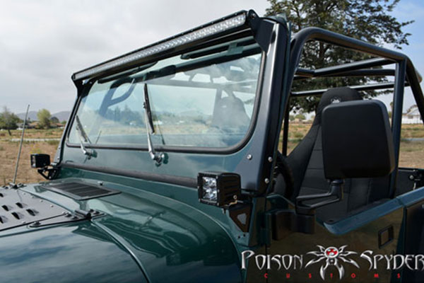 Poison Spyder 50 Quot Led Light Bar Mount For 76 96 Jeep Yj