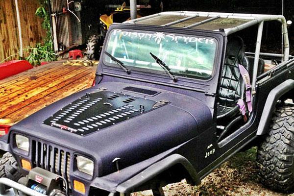 Jeep YJ Wrangler Louvered Hood Panel Jeep Hood Vents