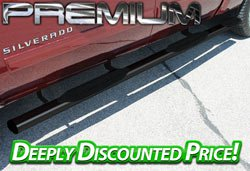Premium Black Powder-Coated 4 Inch Oval Nerf Bars
