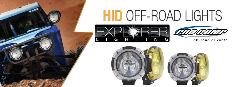 Pro Comp Explorer Hid Off Road Lights 4wheelonline Com