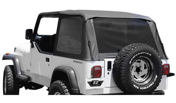 Rampage Trail Soft Top Kit Frameless 92 95 Jeep Wrangler YJ   Tinted  Windows | 4WheelOnline.Com
