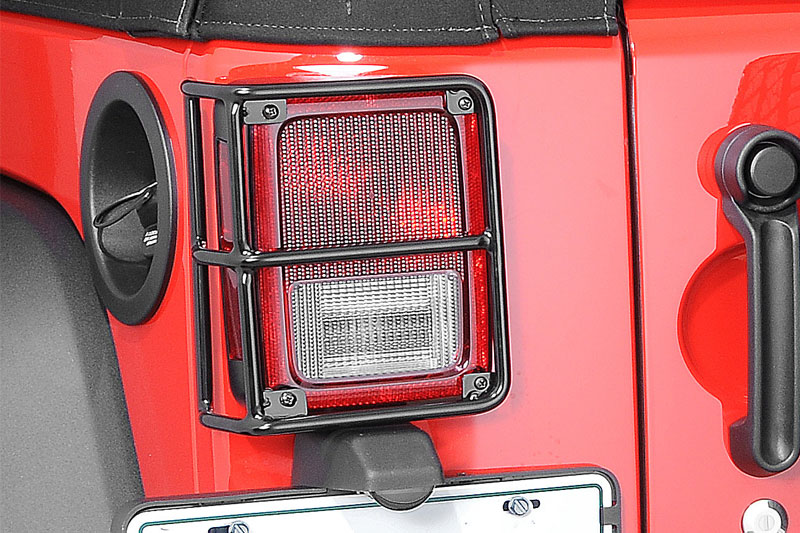 Jeep Wrangler JK Rampage 88660 Rear Euro Light Guards Black for 2007