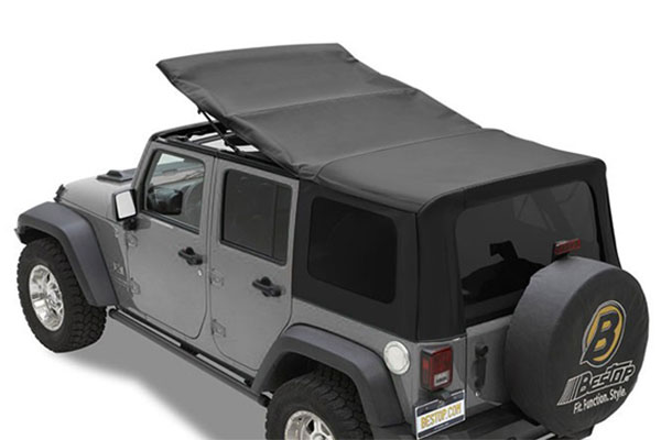 Bestop twill supertop nx soft top for 07 4 door jeep wrangler for sale