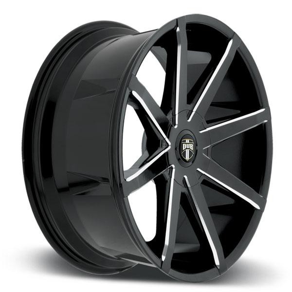 Black Wheels Dub Alloys: DUB Push S109 Gloss Black Milled Wheels