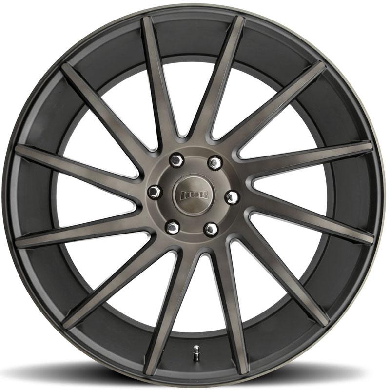 DUB Chedda S128 Black Machined with Dark Tint Wheels ...