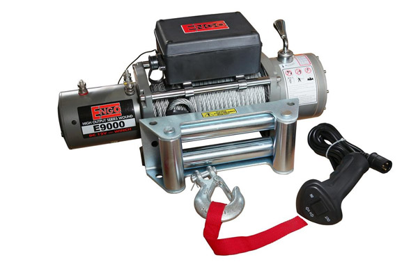 E9000 9 000 Lb  12 Volt Electric Winch