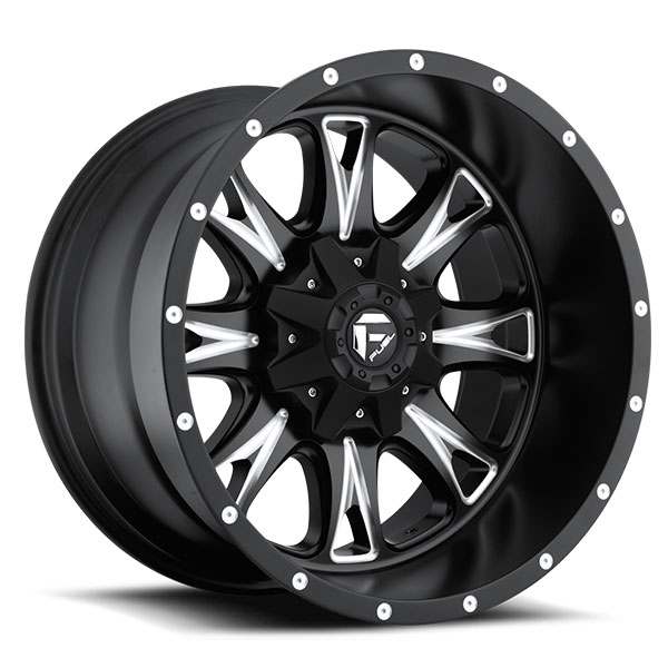 Fuel D513 Throttle Matte Black Milled Wheels 20 And 22 Inch