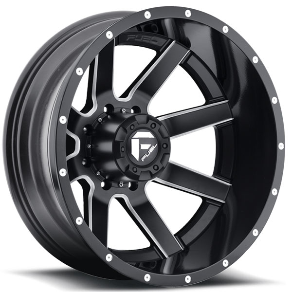 Fuel Dually Wheels >> Fuel Maverick D262 Dually Rear Black Milled Wheels ...