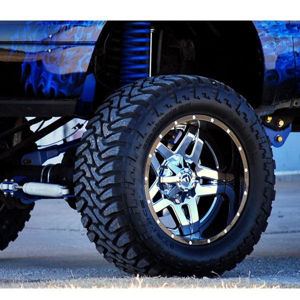 Online Tire Sales >> Fuel D253 Full Blown Chrome w/ Gloss Black Lip Wheels ...