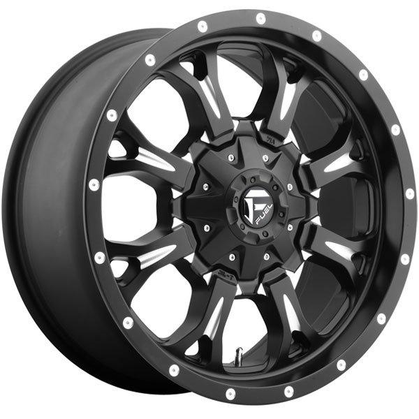 Fuel-D51720001750 Black//Milled Authorized Dealer 20x10 Fuel Offroad Wheels Krank 8x170-12 Offset 125.2 Hub