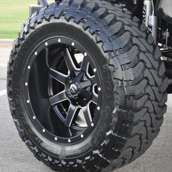 Fuel D538 Maverick Deep Lip in Black Milled Finish Wheels ...