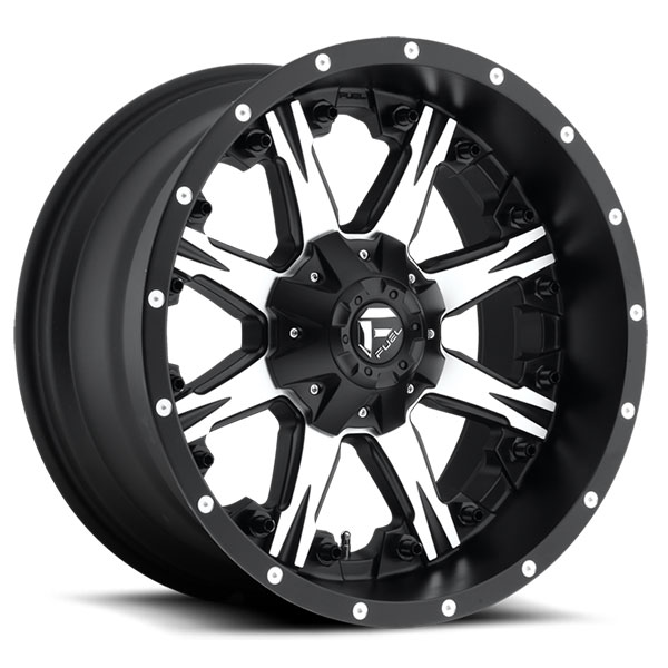Fuel D541 Nutz Black Machined Wheels