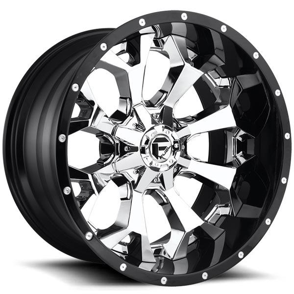 Fuel D246 Assault Chrome Face W Gloss Black Lip Wheels