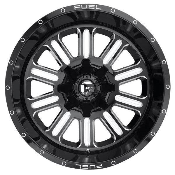 Fuel D620 Hardline Gloss Black Milled Wheels