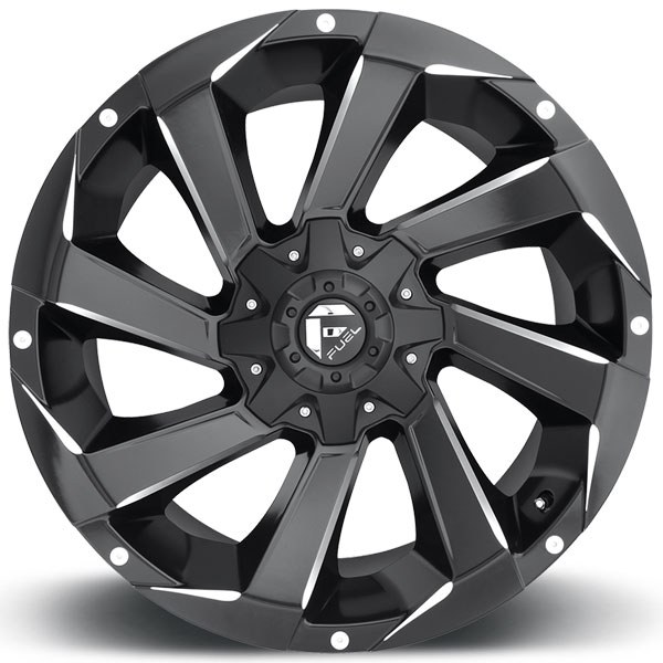 Fuel D592 Razor Black And Milled Wheels