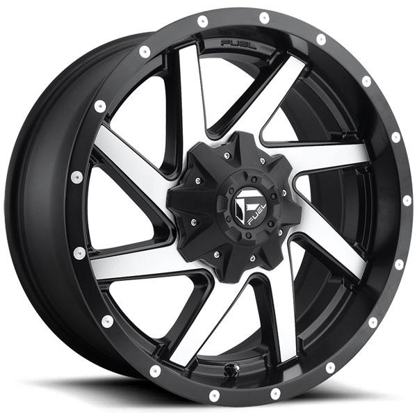 Fuel D593 Renegade Black Machined Wheels