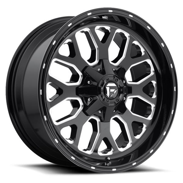 Fuel D588 Titan Black Milled Wheels