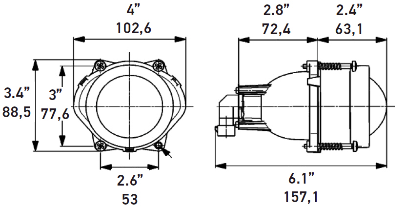 3 Wheel Car T Rex For Sale >> Hella 60mm Module High Beam Lamp | 4WheelOnline.com
