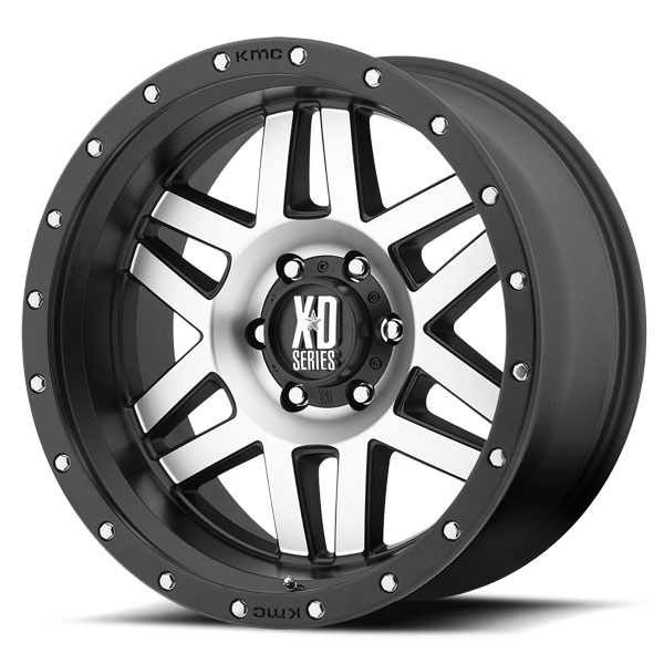 KMC XD128 Satin Black with Machined Face