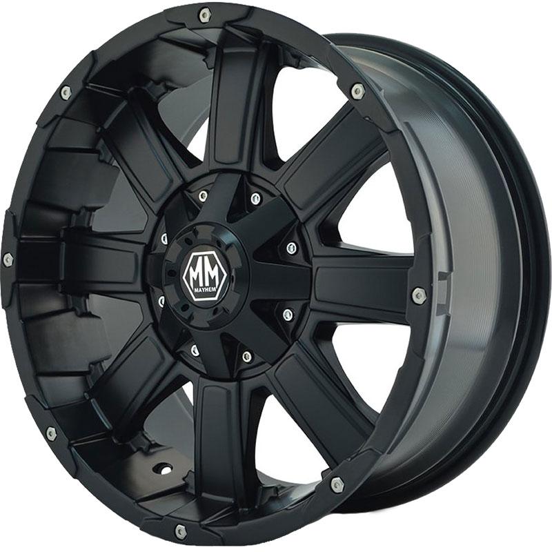 Mayhem Chaos 8030 Matte Black Wheels 4wheelonline Com
